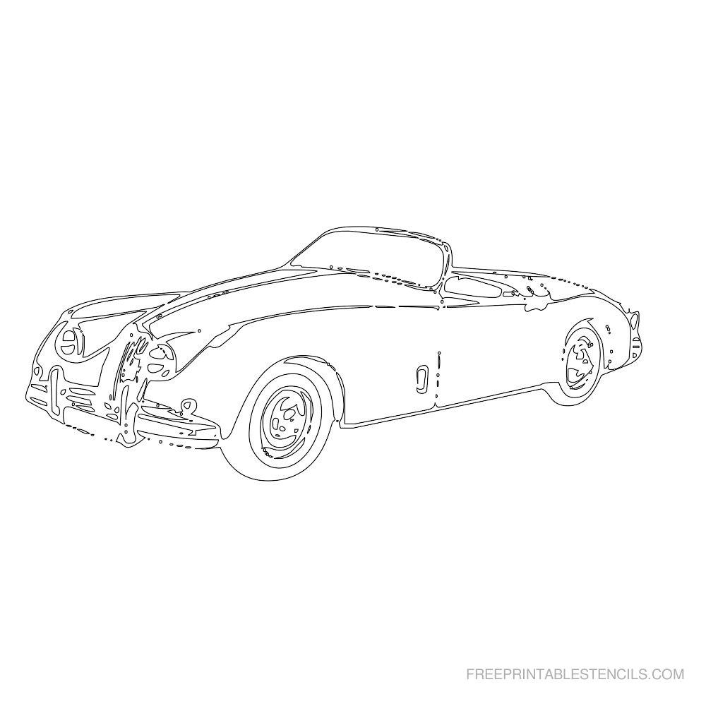 Free Printable Car Stencil O