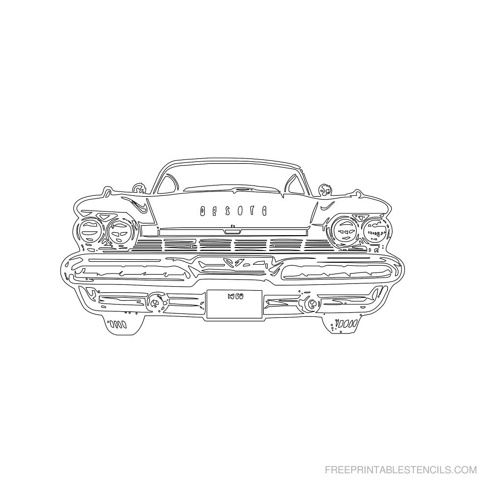 Free Printable Car Stencil P