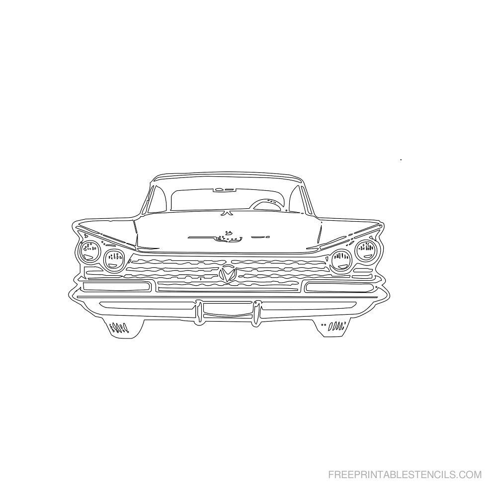Free Printable Car Stencil R