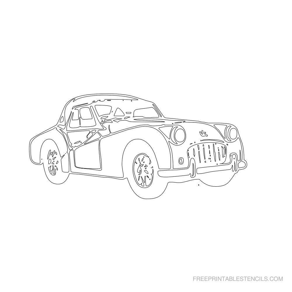 Free Printable Car Stencil T
