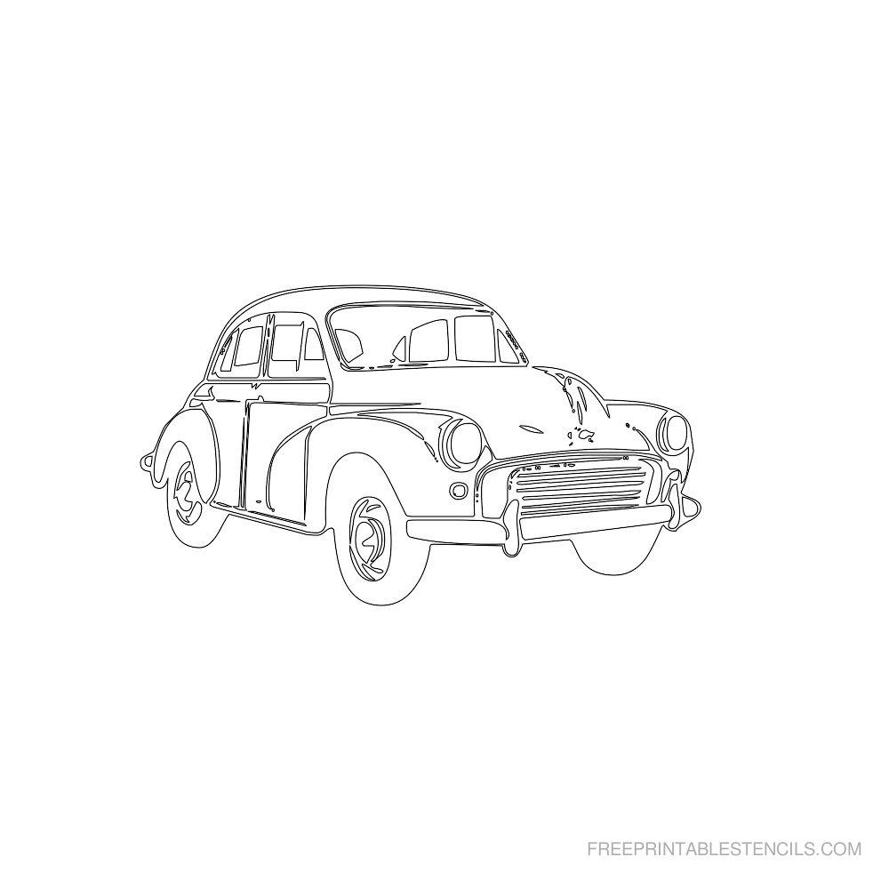 Free Printable Car Stencil U