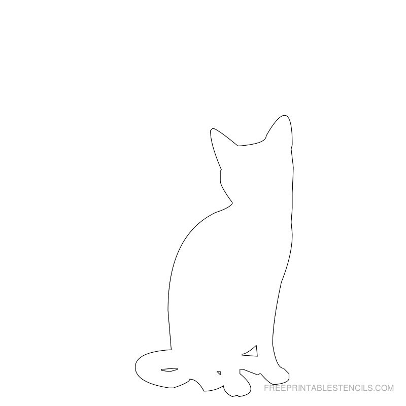 Printable cat stencil 1