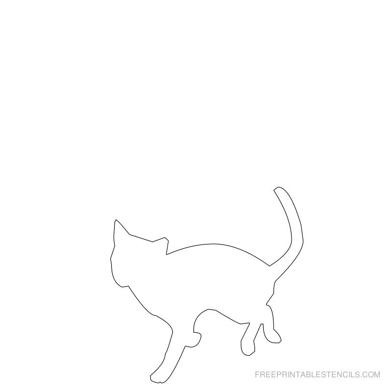 Printable cat stencil 10