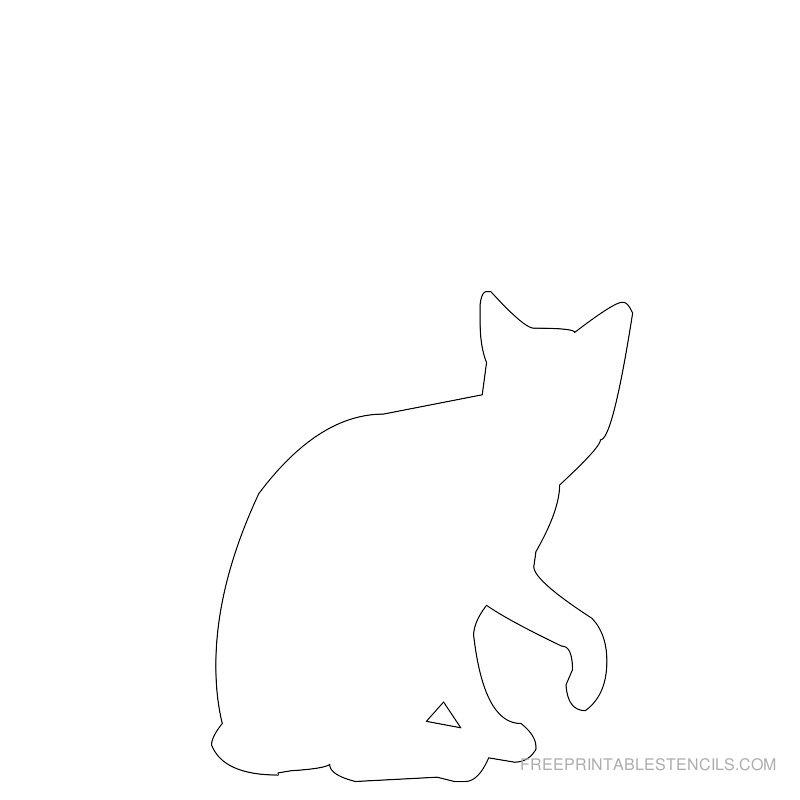 Printable cat stencil 11