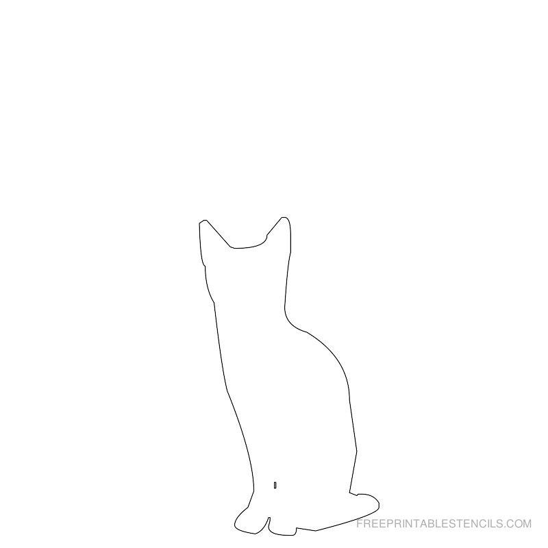 Printable cat stencil 12