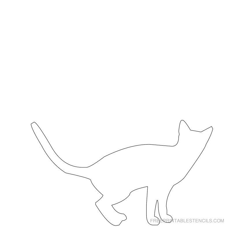 Printable cat stencil 9