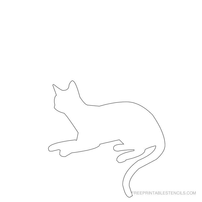 Printable cat stencil 2