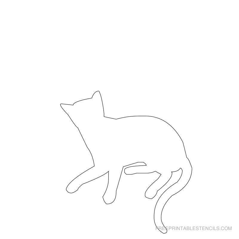 Printable cat stencil 3
