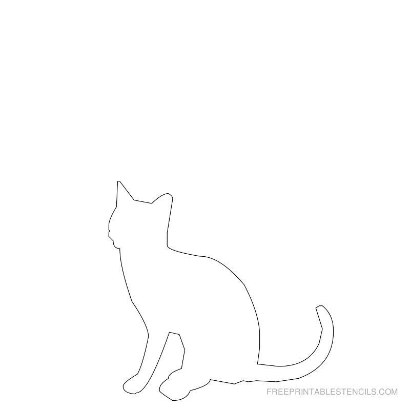 Printable cat stencil 4
