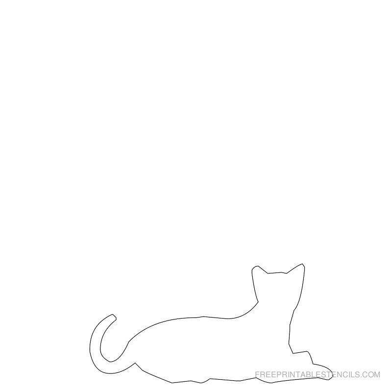 Printable cat stencil 5
