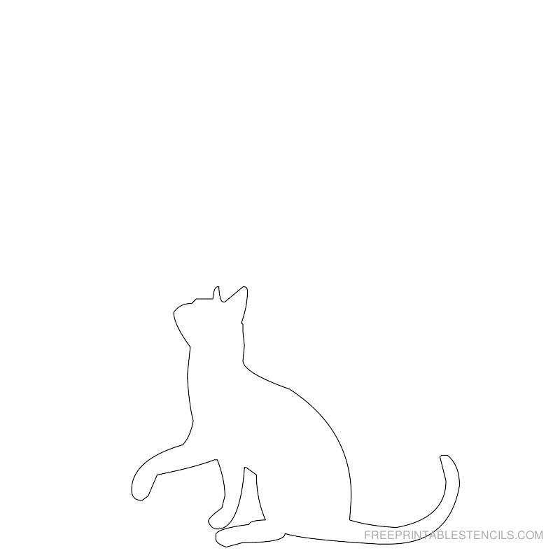 Printable cat stencil 6
