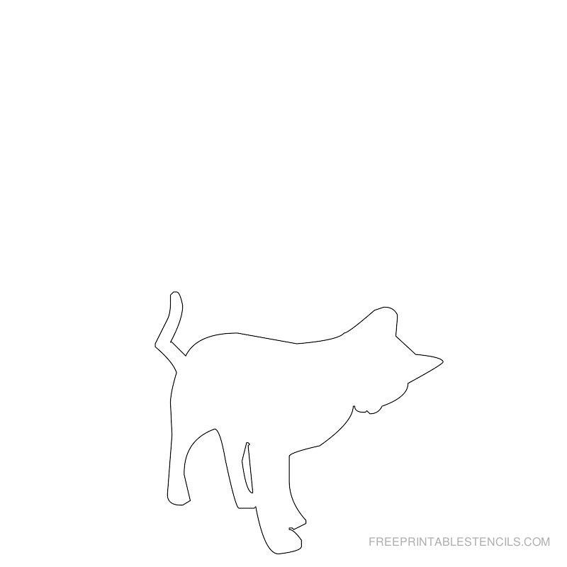 Printable cat stencil 7