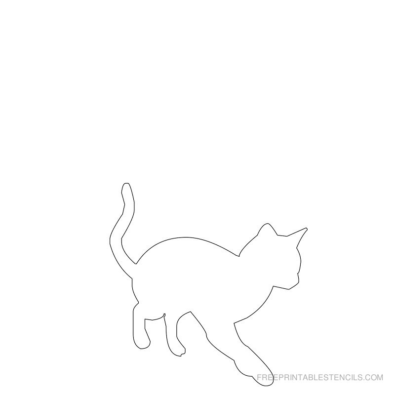 Printable cat stencil 8