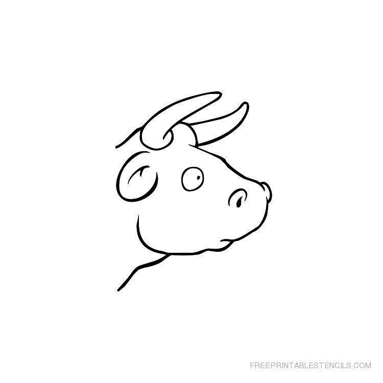 Printable Cow stencil 3