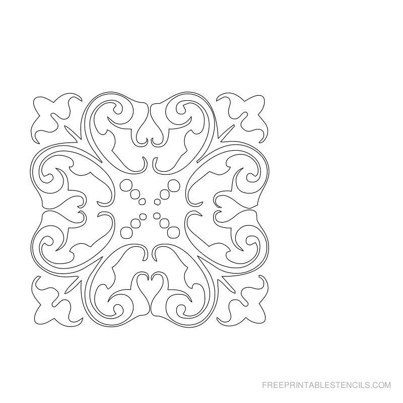Free Printable Damask Stencil X