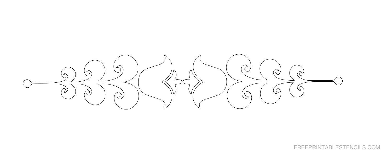 Free Printable Decorative Border Stencil C