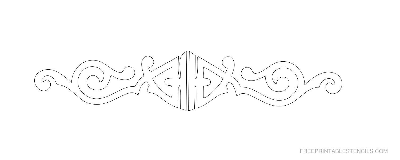 Free Printable Decorative Border Stencil F