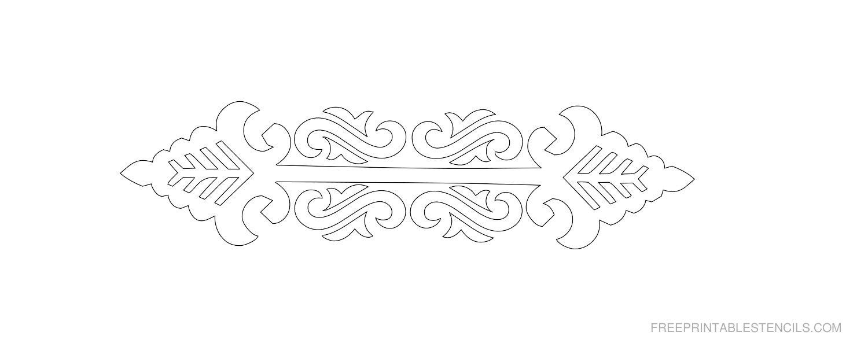 Free Printable Decorative Border Stencil G