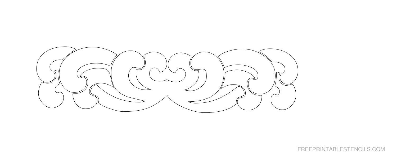 Free Printable Decorative Border Stencil H