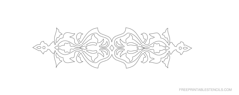 Free Printable Decorative Border Stencil K