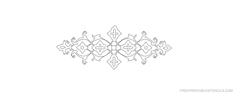 Free Printable Decorative Border Stencil L