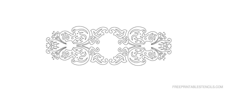 Free Printable Decorative Border Stencil M