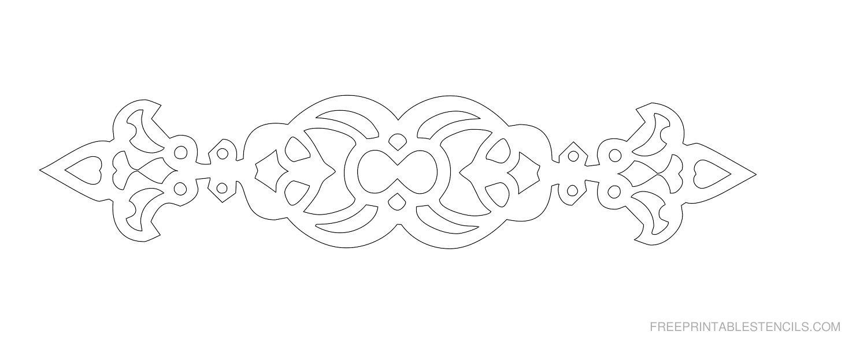Free Printable Decorative Border Stencil N