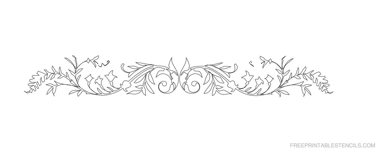 Free Printable Decorative Border Stencil O
