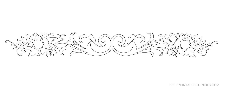 Free Printable Decorative Border Stencil P