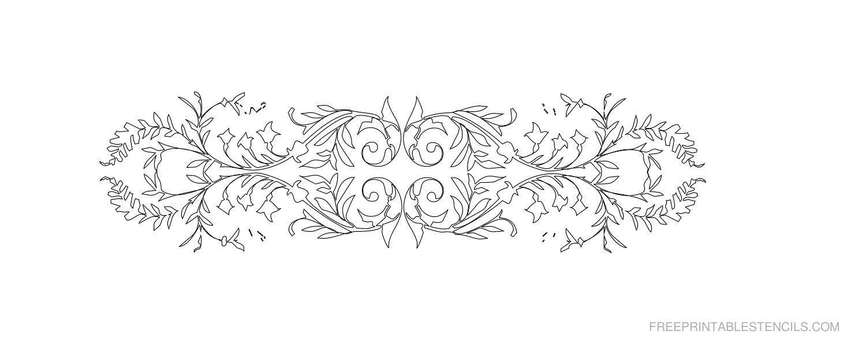 Free Printable Decorative Border Stencil Q