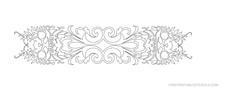 Free Printable Decorative Border Stencil R