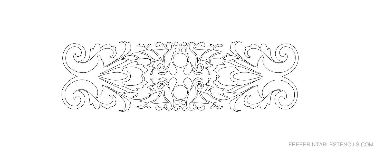 Free Printable Decorative Border Stencil S