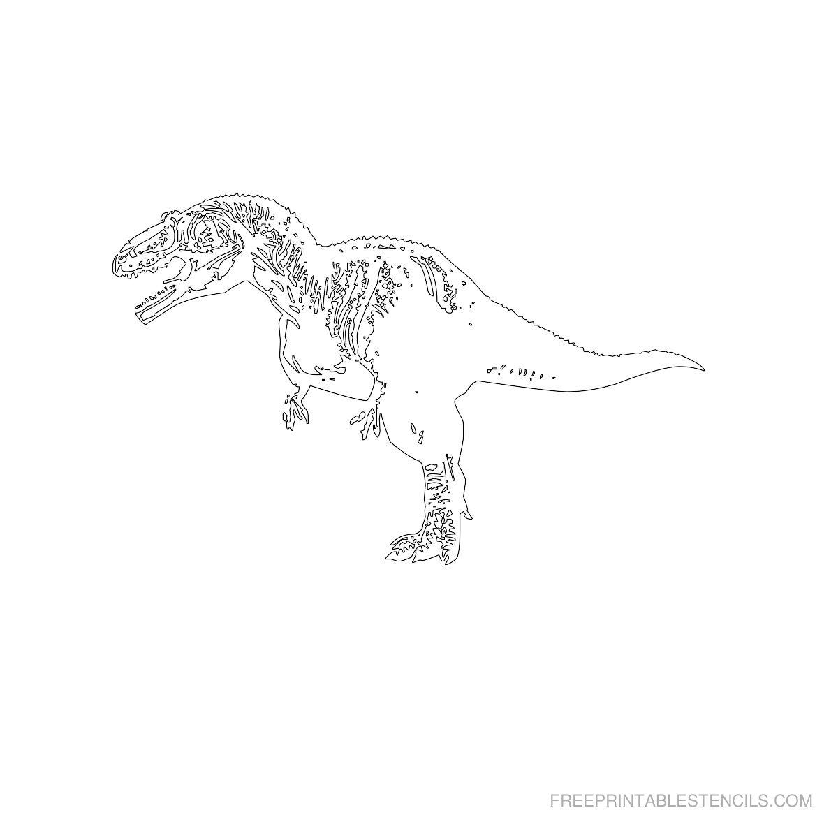 Free Printable Dinosaur Stencil A