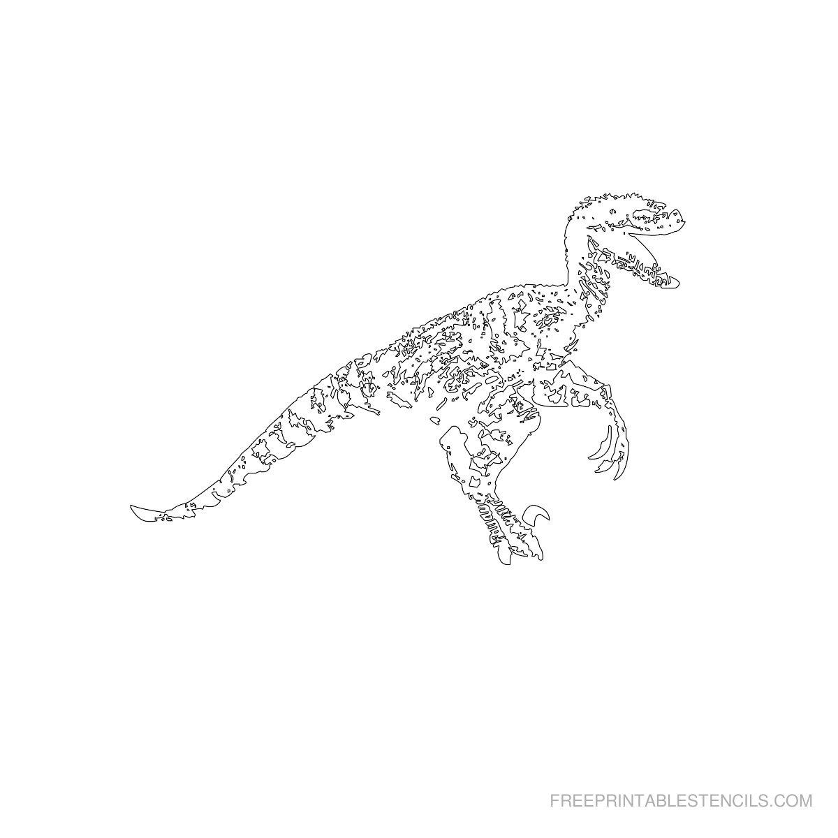Free Printable Dinosaur Stencil B