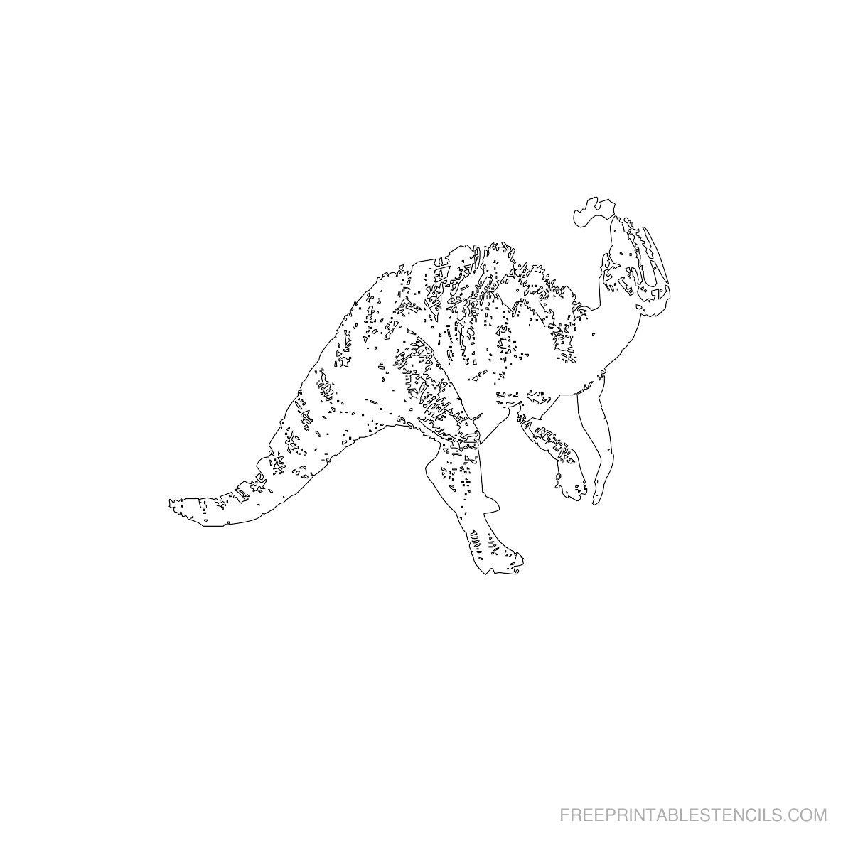 Free Printable Dinosaur Stencil C
