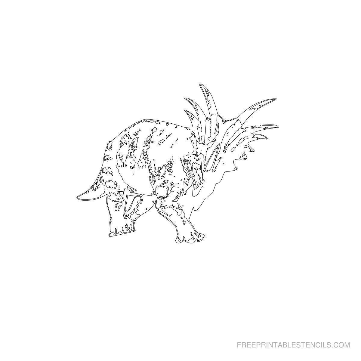 Free Printable Dinosaur Stencil D