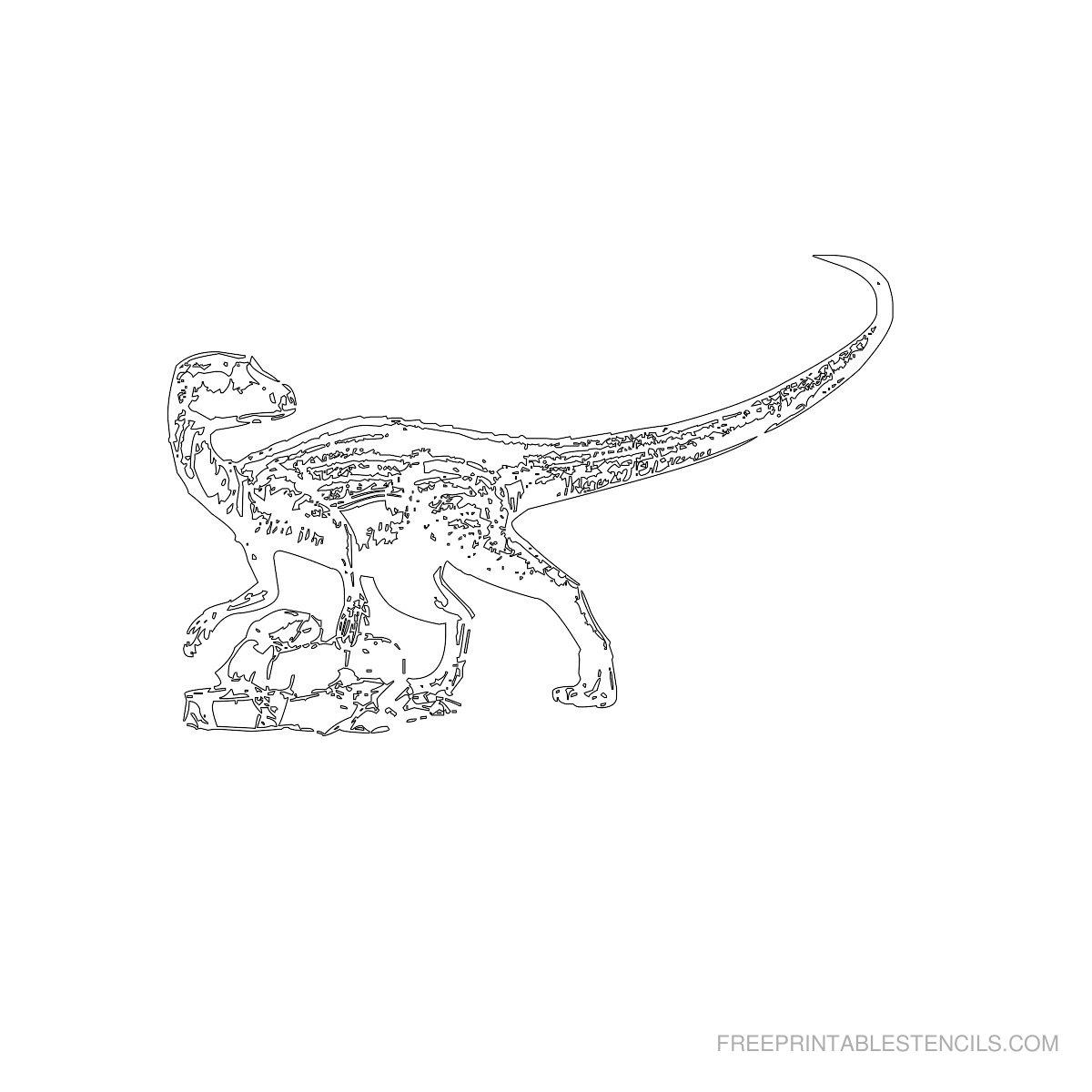 Free Printable Dinosaur Stencil E