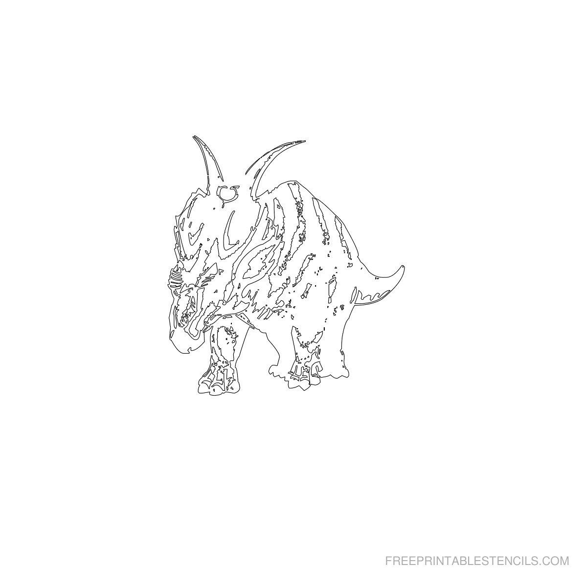 Free Printable Dinosaur Stencil F