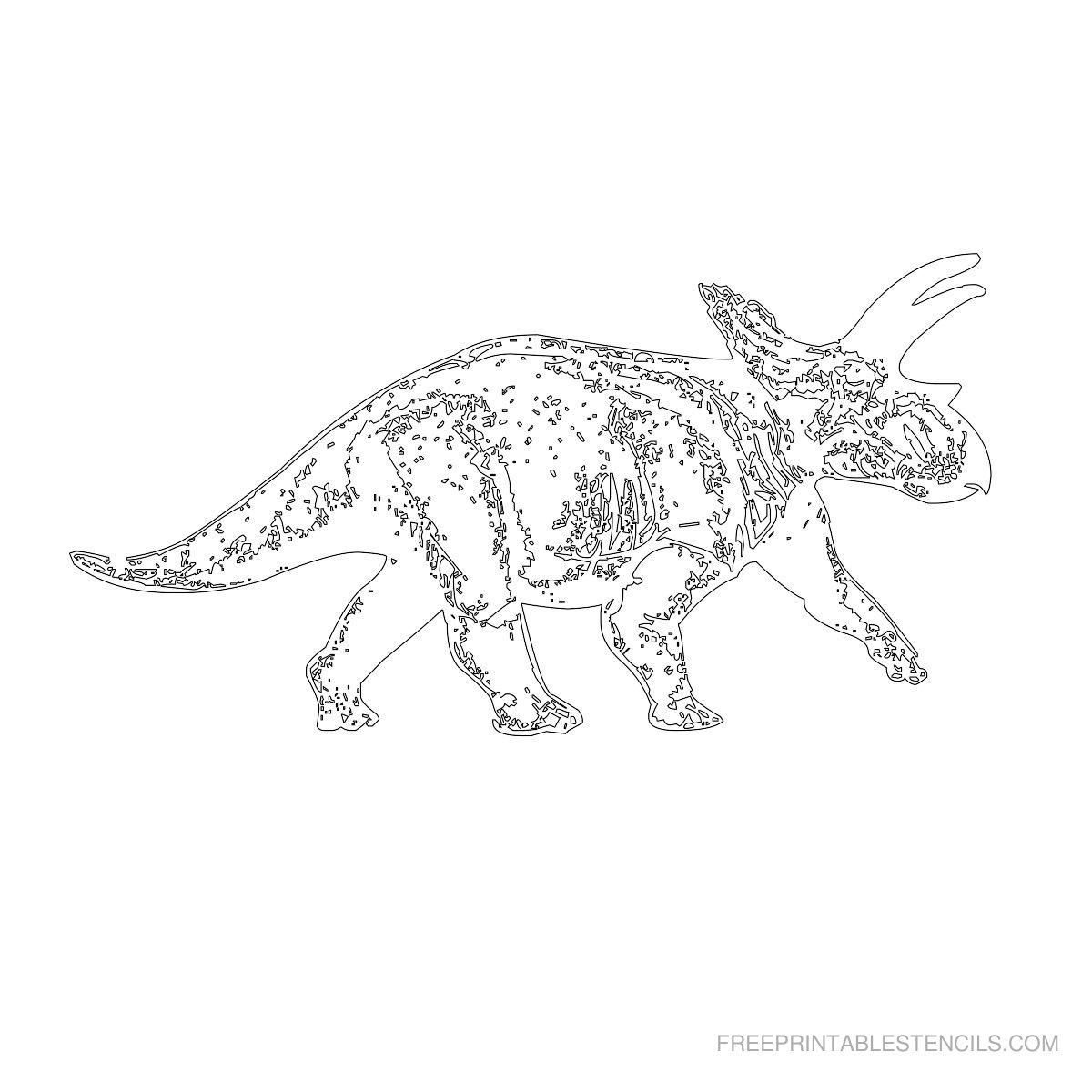 Free Printable Dinosaur Stencil G
