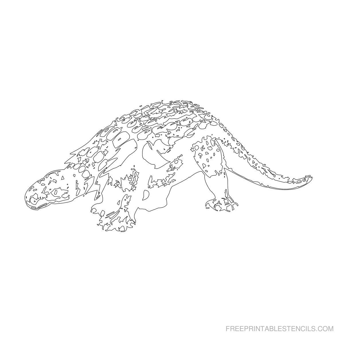Free Printable Dinosaur Stencil J