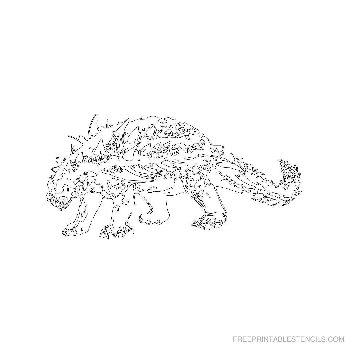 Free Printable Dinosaur Stencil K