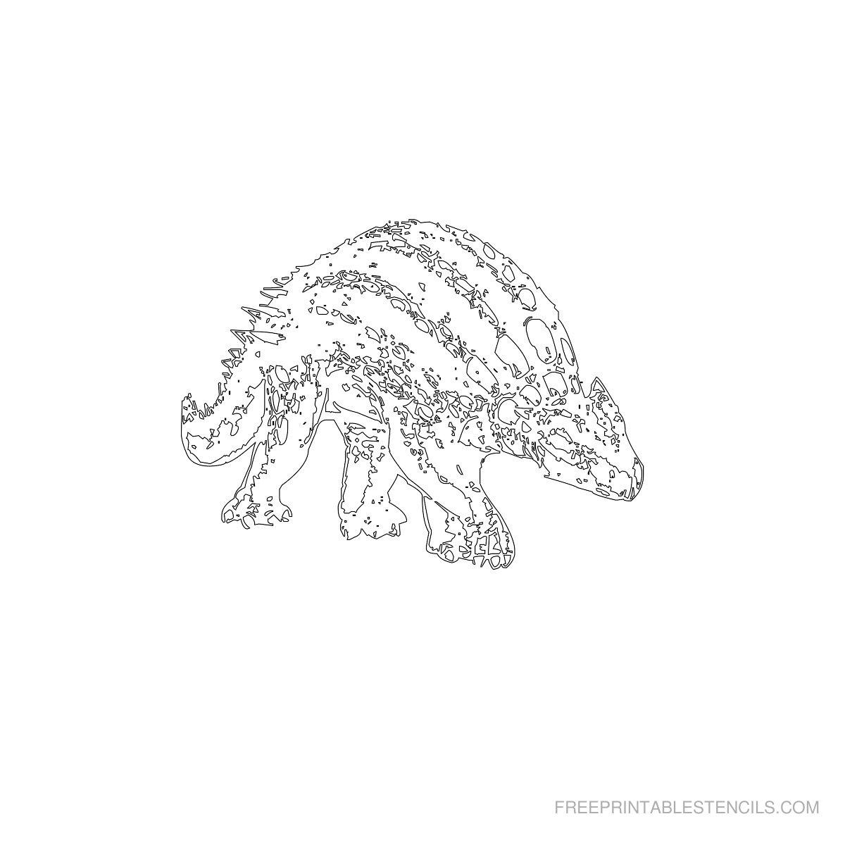 Free Printable Dinosaur Stencil L