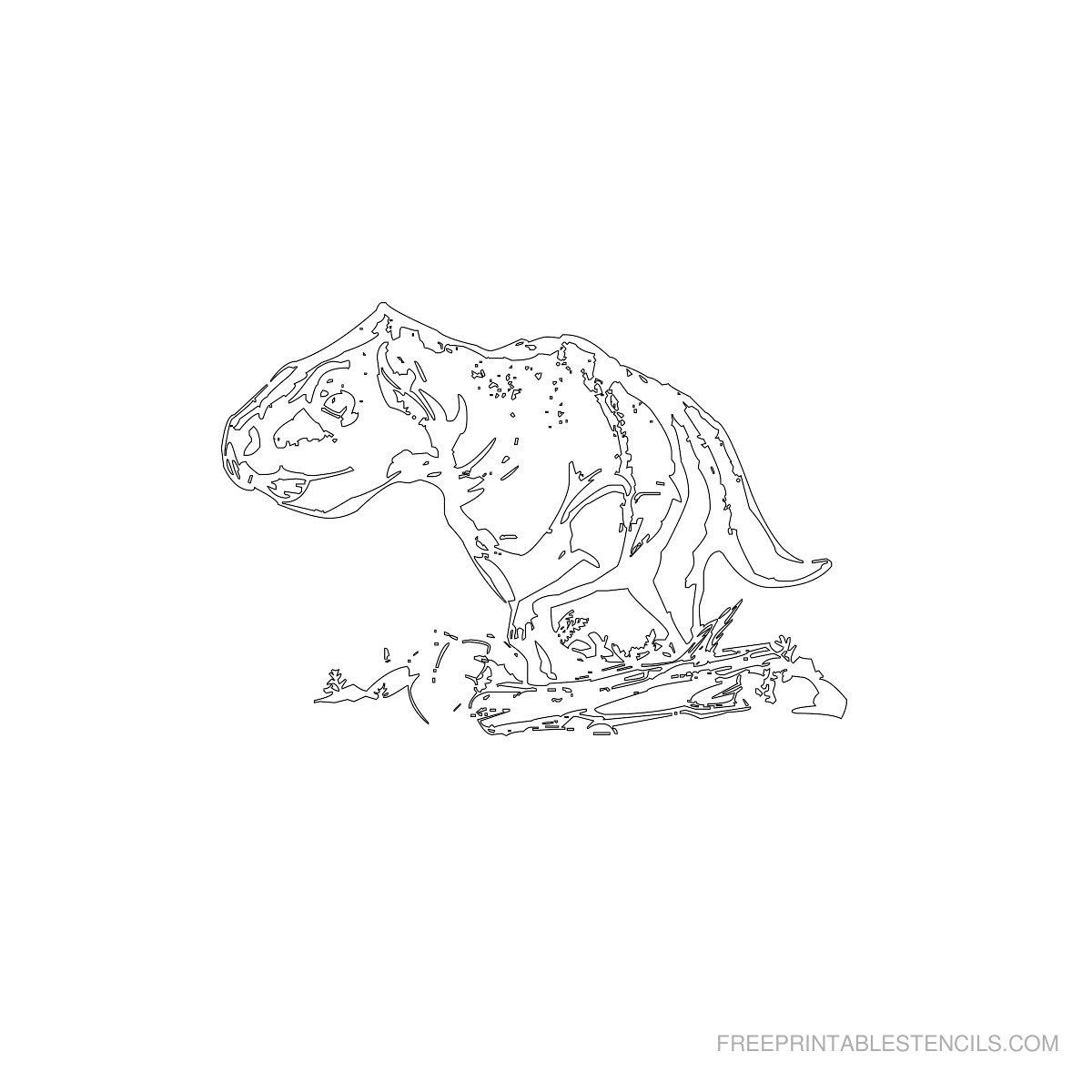 Free Printable Dinosaur Stencil N