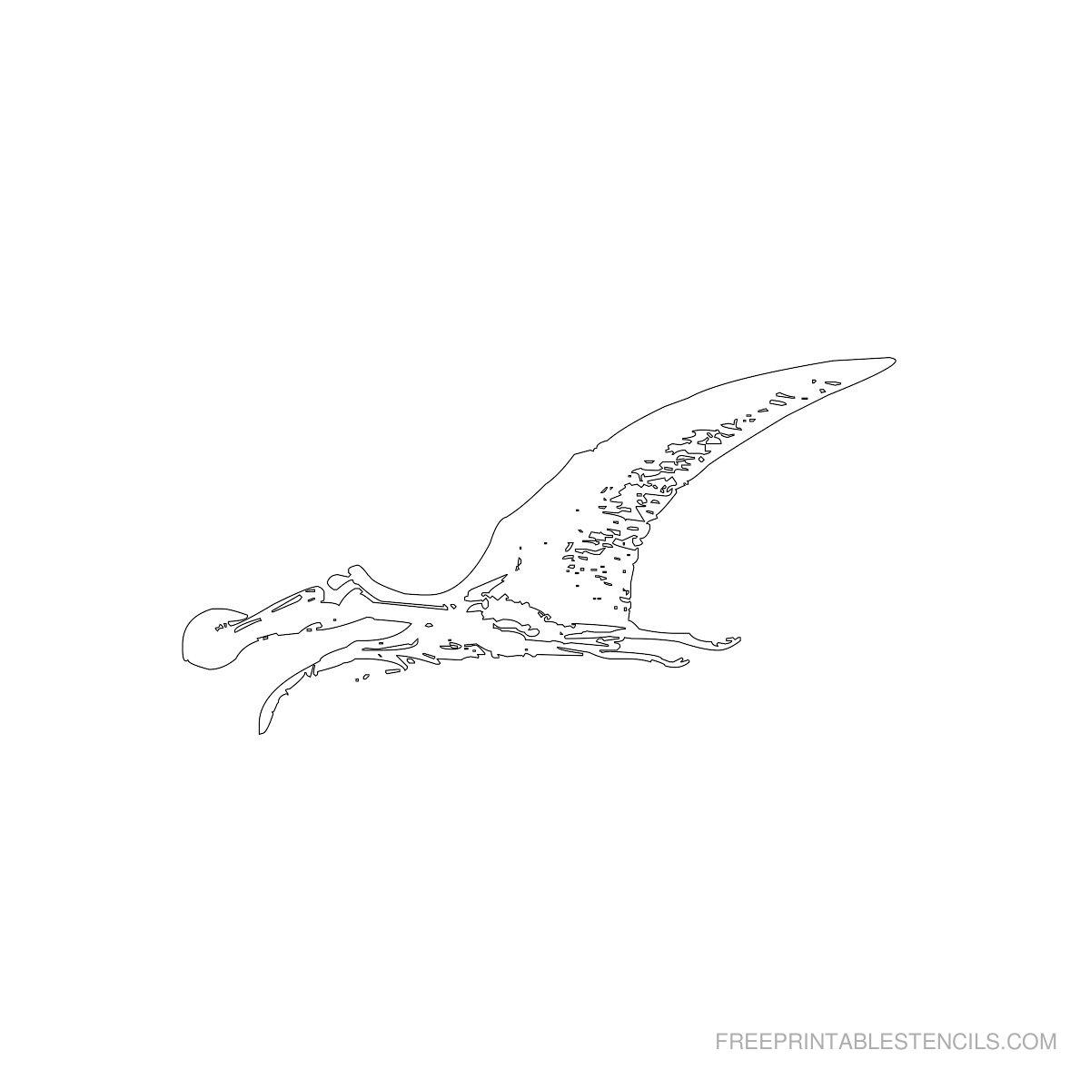 Free Printable Dinosaur Stencil O