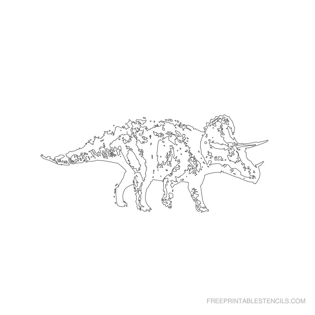 Free Printable Dinosaur Stencil P