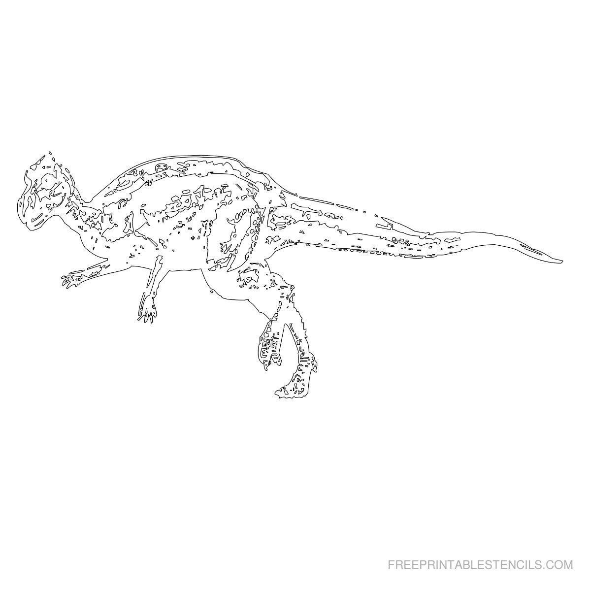 Free Printable Dinosaur Stencil Q