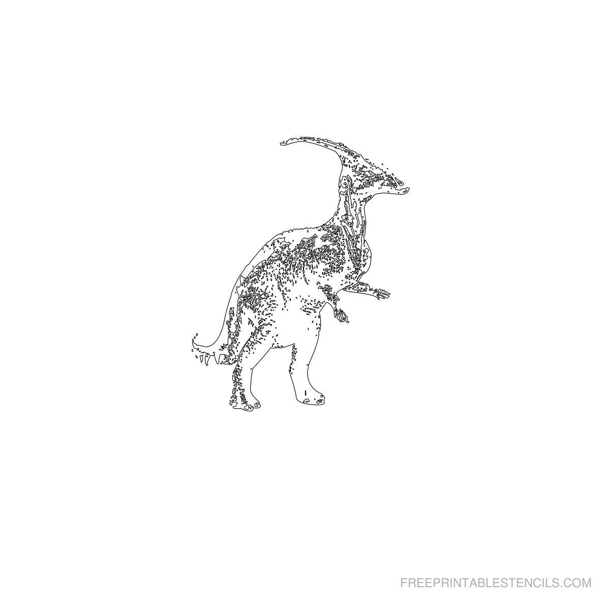 Free Printable Dinosaur Stencil R