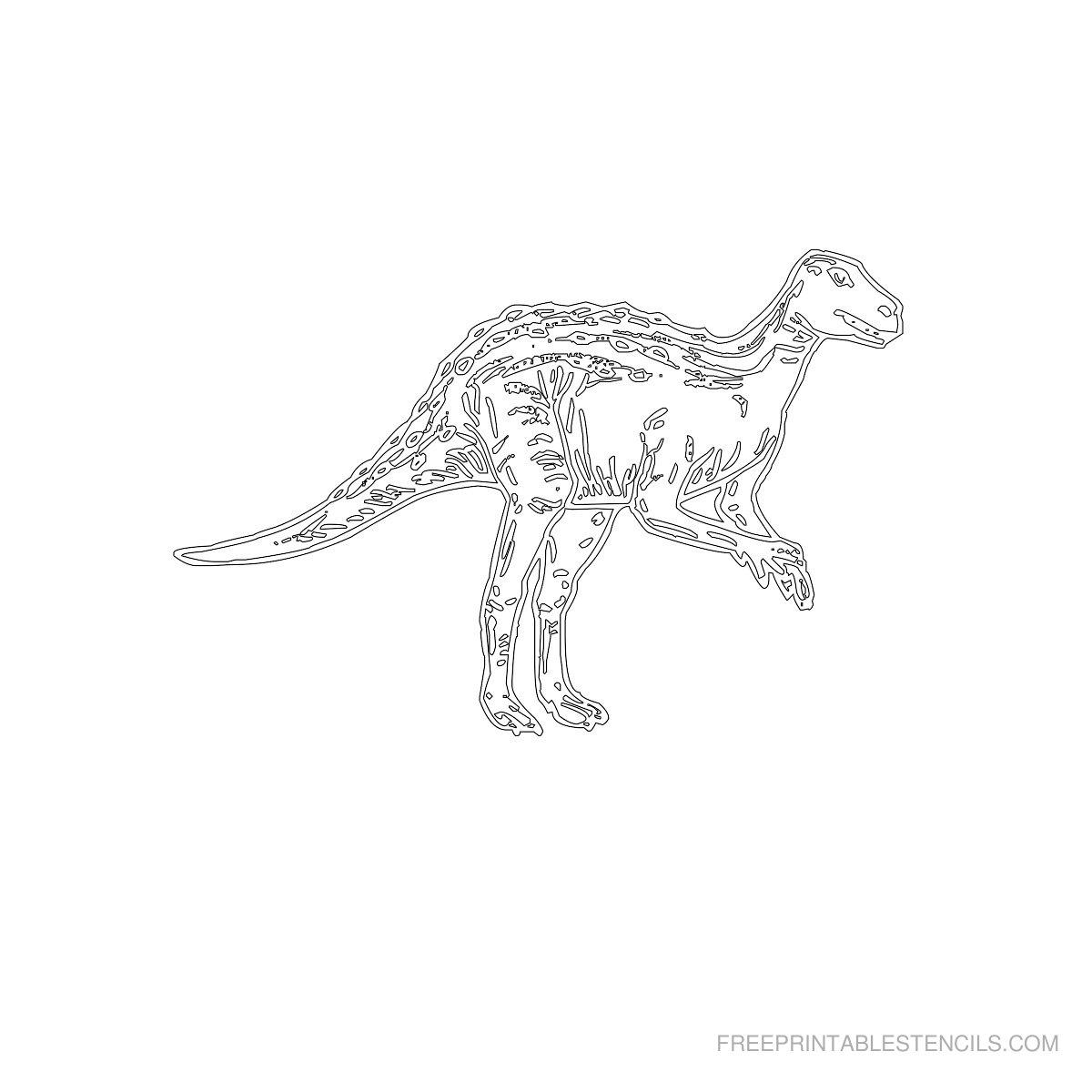 Free Printable Dinosaur Stencil T