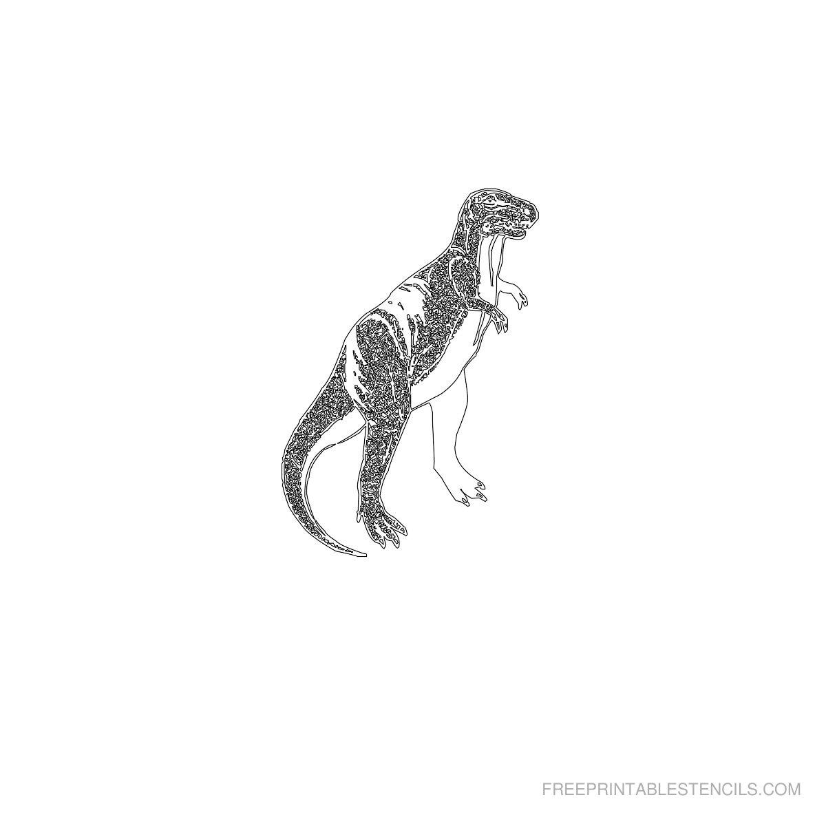 Free Printable Dinosaur Stencil U