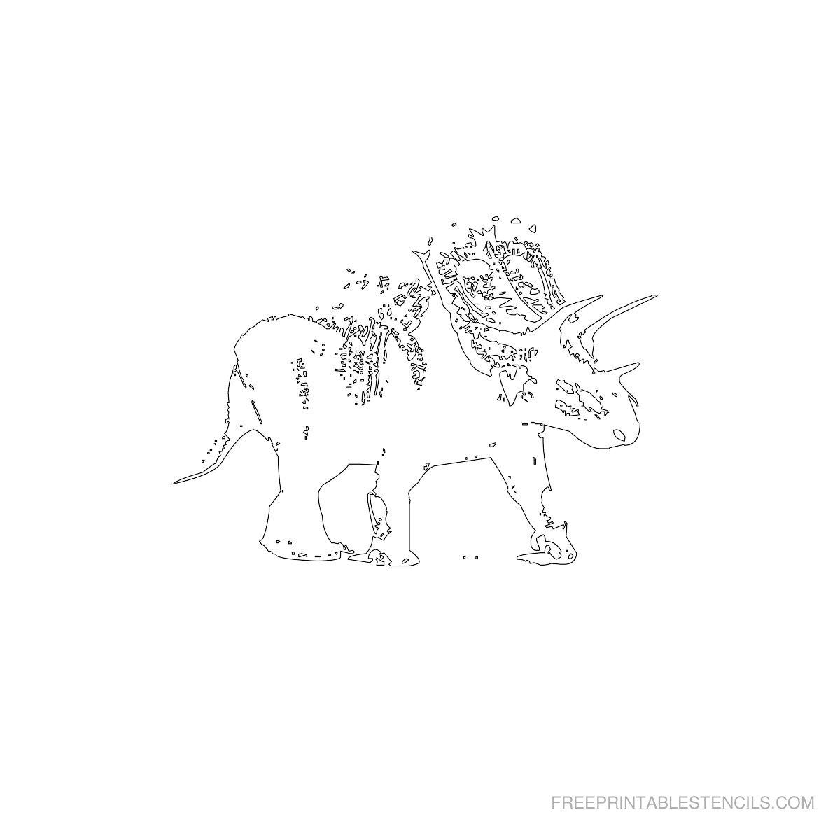 Free Printable Dinosaur Stencil V
